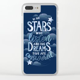 Night Court Book Quote ACOTAR Clear iPhone Case
