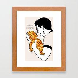 French Fry Baby Framed Art Print