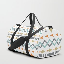 Southwestern Tribal Modern Geometric Stripes of Arrows Chevrons Diamonds Leaves Triangles Circles Duffle Bag