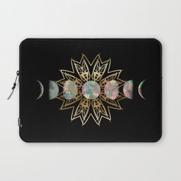 Opal Moon and Gold Stars Laptop Sleeve
