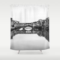 florence Shower Curtains featuring FLORENCE by Sara_photographer