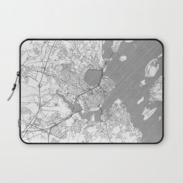 Portland Maine Map Line Laptop Sleeve