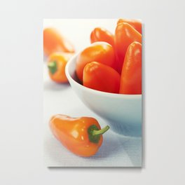 fresh orange peppers Metal Print