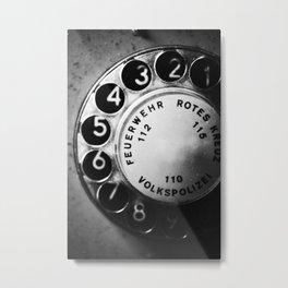 Telephone dial (GDR) Metal Print
