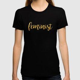 Golden Feminist T-shirt