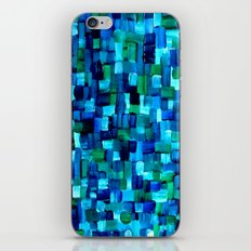 Abstract Tiles of Blue and Green iPhone & iPod Skin