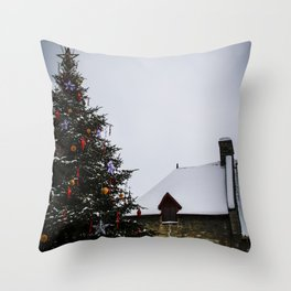 Chistmas in Old Quebec Throw Pillow