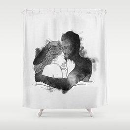 The hug. Shower Curtain