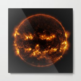 Pumpkin Sun Metal Print