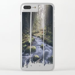 Silent whispers Clear iPhone Case