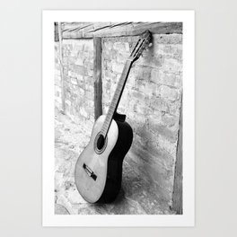 Gitarre Art Print