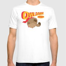Owlsome Guardian MEDIUM Mens Fitted Tee White