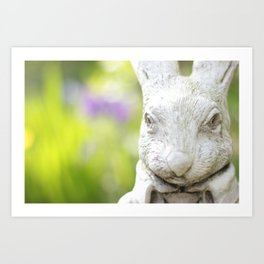 Garden Rabbit Art Print