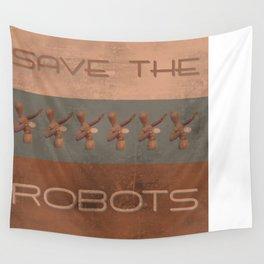Save The Robots Wall Tapestry