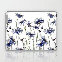 Blue Cornflowers, Illustration Laptop & iPad Skin