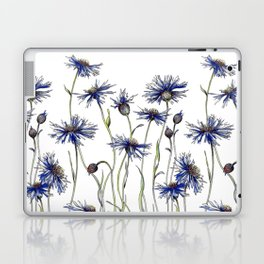 Blue Cornflowers, Illustration Laptop & iPad Skin
