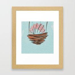 japanese cherry blossom Framed Art Print