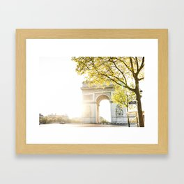 arch the triomphe in paris Framed Art Print