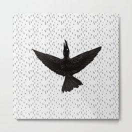 The ink crow Metal Print