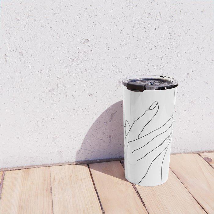 Female body line drawing - Danna Travel Mug