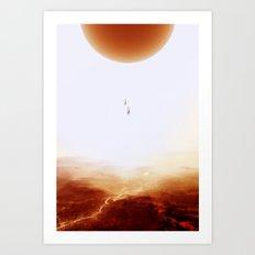 Mars Diving Art Print