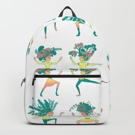 Little dancing shamans print Backpack