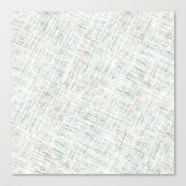 Gray and white texture. Hatching Canvas Print