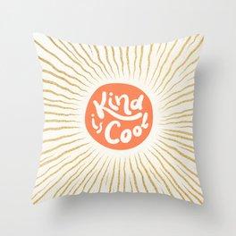 Solar 'Kind is Cool' - peach & gold #positiveart Throw Pillow