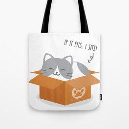 If It Fits, I Sits! Tote Bag