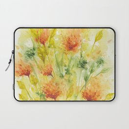 Fiery Flower Field Laptop Sleeve