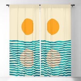 Ocean current Blackout Curtain