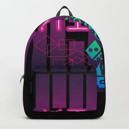 Miami Dice Retro Gaming Board Game Design Backpack