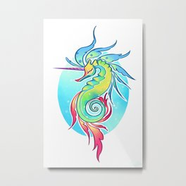 Sea Unicorn Metal Print