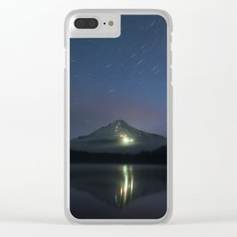 Lights on Mount Hood Clear iPhone Case