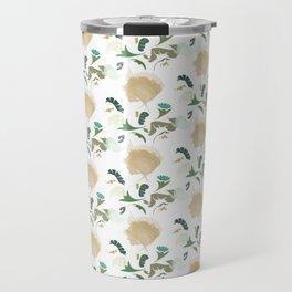 Ginkgo Floral Travel Mug