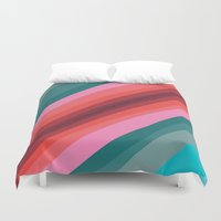cracked Duvet Covers featuring Cracked  by K I R A   S E I L E R