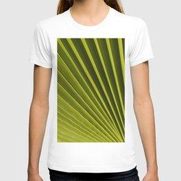 Green Palm Leaf Macro Up Close Nature Floral Fine Art Print T-shirt