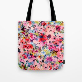 Little Peachy Poppies Tote Bag