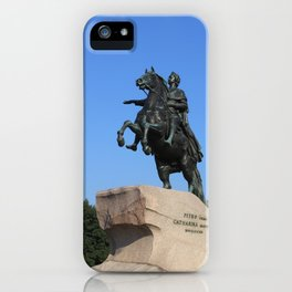 "Bronze monument of Peter the Great. ""Bronze Horseman"" iPhone Case"