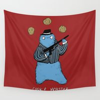 cookie Wall Tapestries featuring Cookie Mobster by Sophie Corrigan