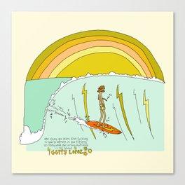 surf legend gerry lopez lightning bolt retro surf art by surfy birdy Canvas Print