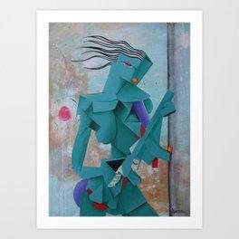 Girl With An AK Art Print