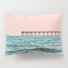 Beach Pier Sunrise Pillow Sham