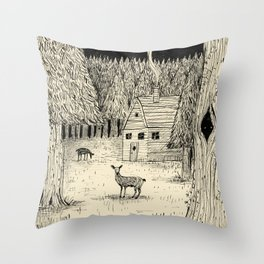 'In The Clearing' Throw Pillow