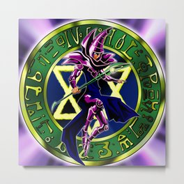 Dark Magician Card Metal Print