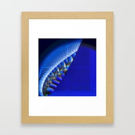 Blue moments Framed Art Print