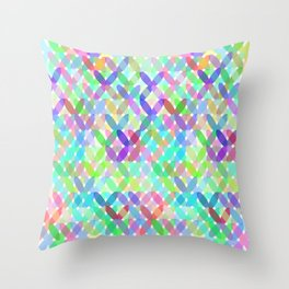 Crossing Colours Throw Pillow