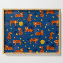 Cosmic Tigers Serving Tray