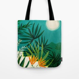 Tropical Moonlight / Tropical Night Series #1 Tote Bag