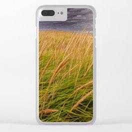 Field of  Beach Grass Clear iPhone Case
